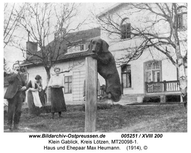 Klein Gablick, Haus und Ehepaar Max Heumann