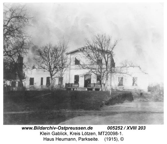Klein Gablick, Haus Heumann, Parkseite