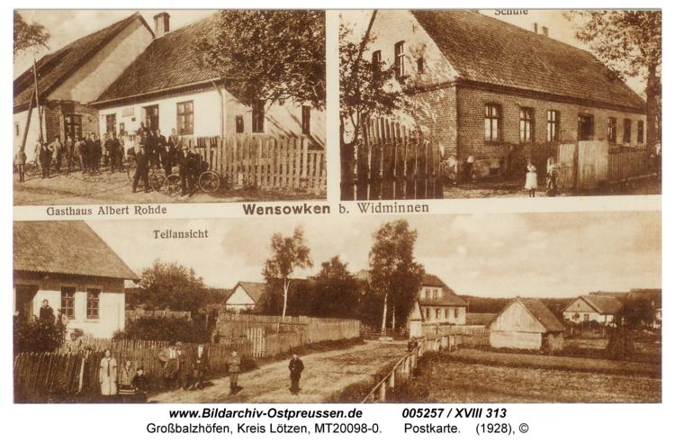 Wensowken, Postkarte