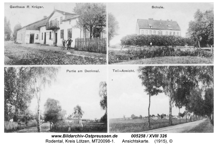 Rodental, Ansichtskarte