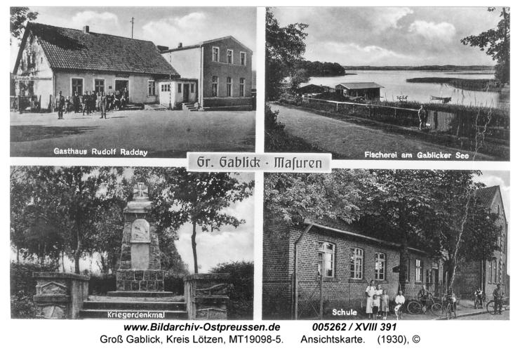 Groß Gablick, Ansichtskarte