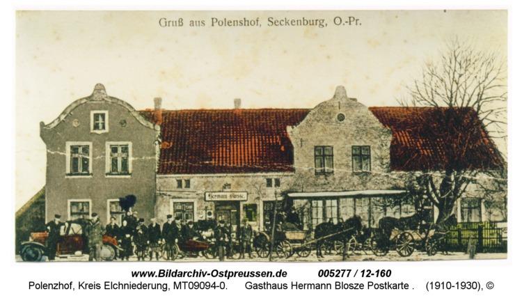 Polenzhof, Gasthaus Hermann Blosze Postkarte