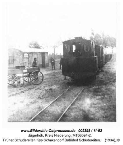 Jägerhöh, früher Schudereiten Ksp Schakendorf Bahnhof Schudereiten