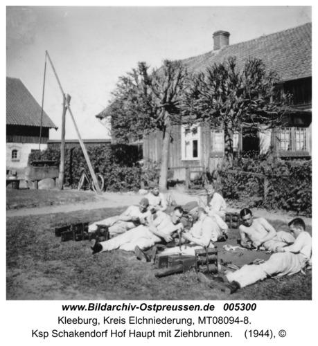 Kleeburg, Ksp Schakendorf Hof Haupt mit Ziehbrunnen