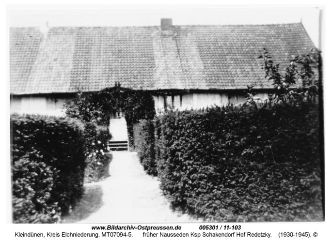 Kleindünen, früher Nausseden Ksp Schakendorf Hof Redetzky