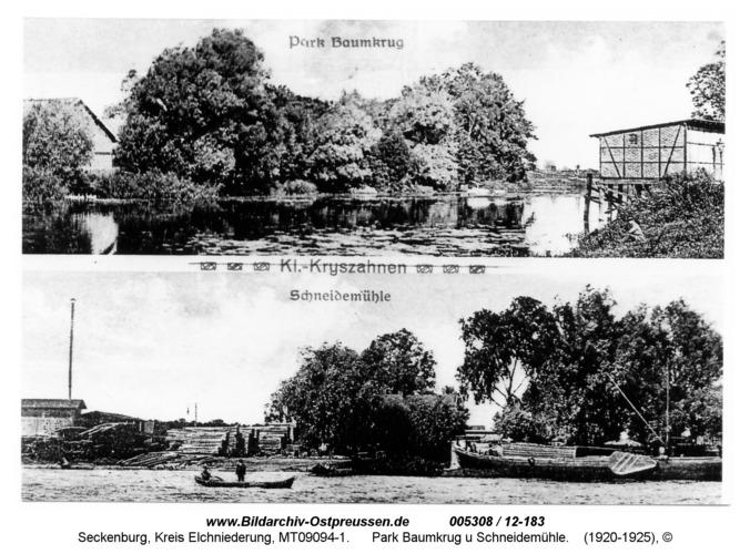 Seckenburg, Park Baumkrug u Schneidemühle