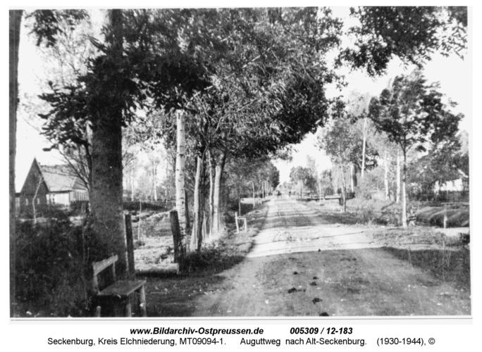 Seckenburg, Auguttweg nach Alt-Seckenburg