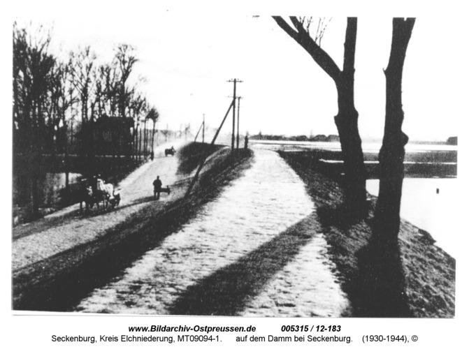 Seckenburg, auf dem Damm bei Seckenburg