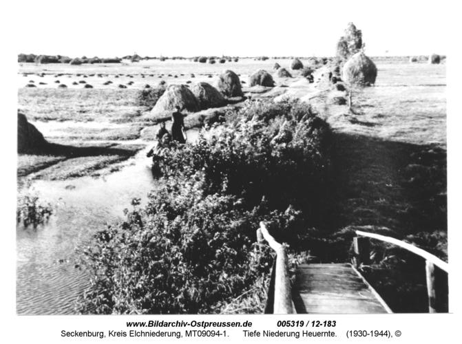 Seckenburg, Tiefe Niederung Heuernte