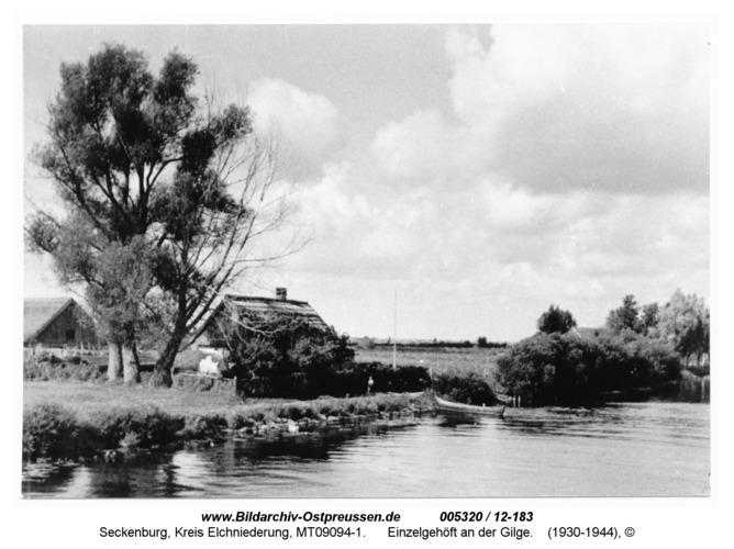 Seckenburg 111, Einzelgehöft an der Gilge