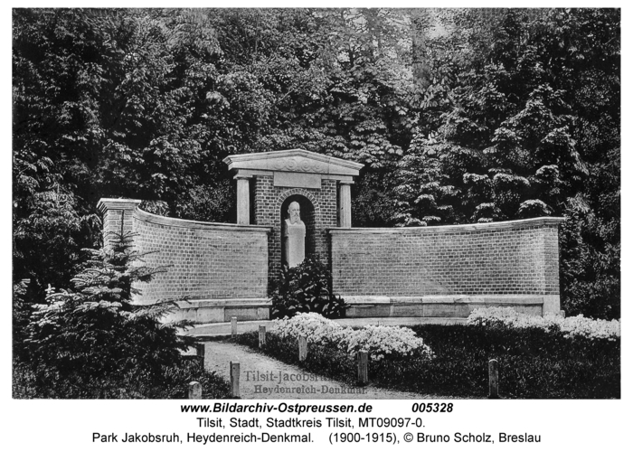 Tilsit, Park Jakobsruh, Heydenreich-Denkmal
