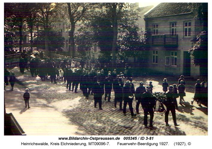 Heinrichswalde, Feuerwehr-Beerdigung 1927