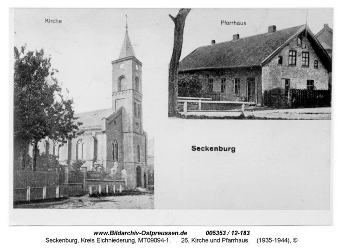 Seckenburg, 26, Kirche und Pfarrhaus