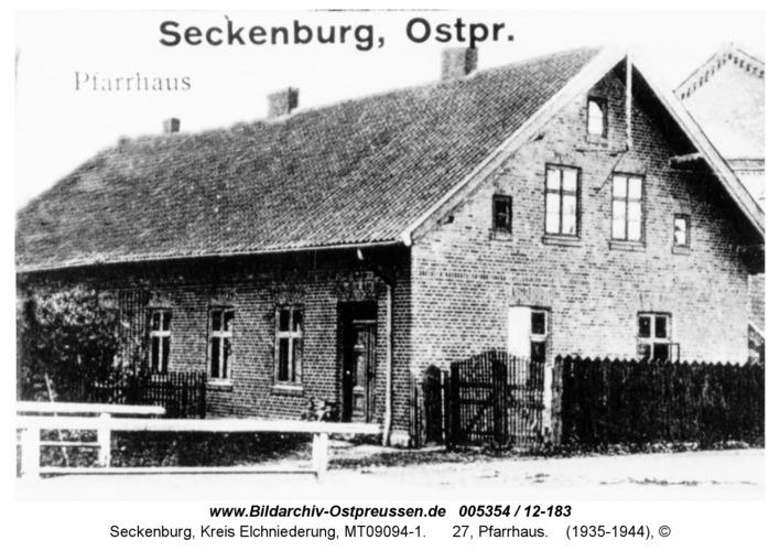 Seckenburg, 27, Pfarrhaus