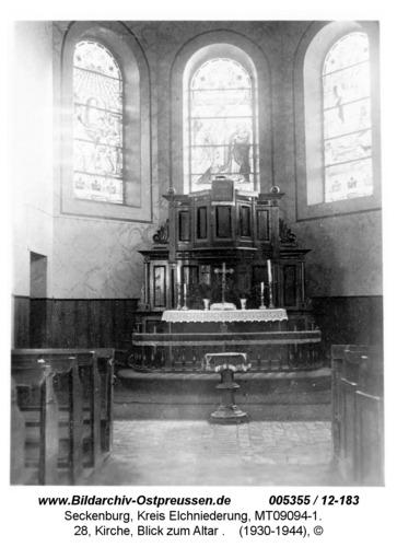 Seckenburg, 28, Kirche, Blick zum Altar