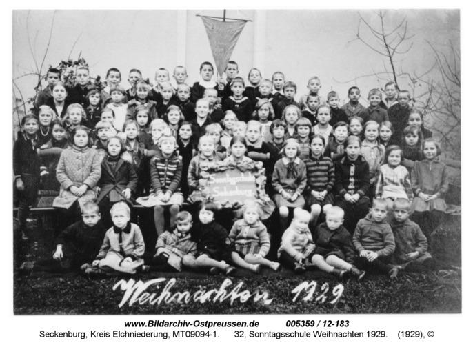 Seckenburg, 32, Sonntagsschule Weihnachten 1929
