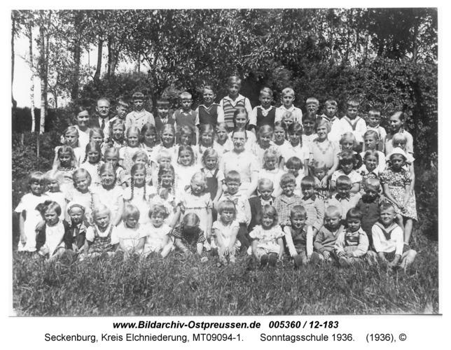Seckenburg, Sonntagsschule 1936