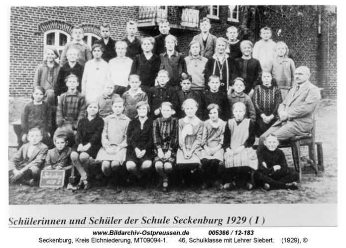 Seckenburg, 46, Schulklasse mit Lehrer Siebert