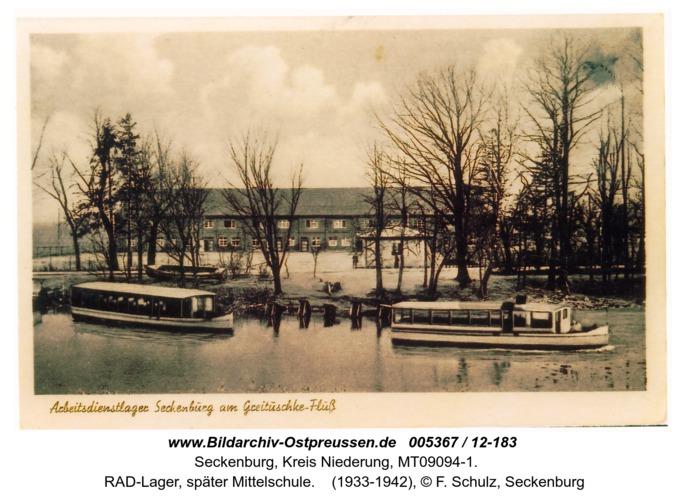 Seckenburg,  RAD-Lager, später Mittelschule