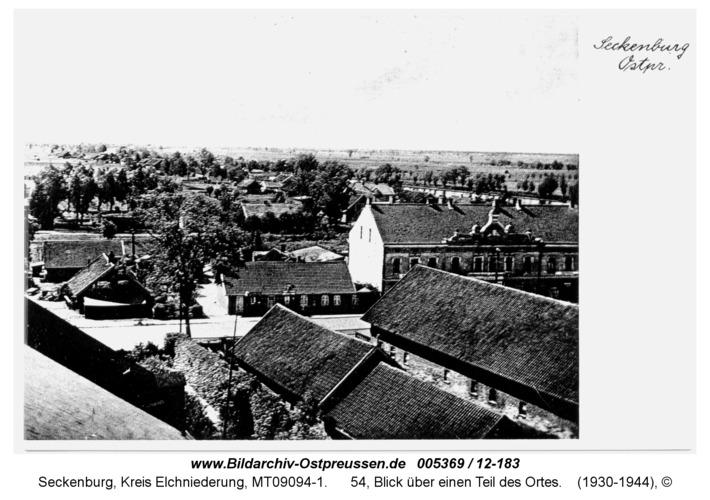 Seckenburg, 54, Blick über einen Teil des Ortes