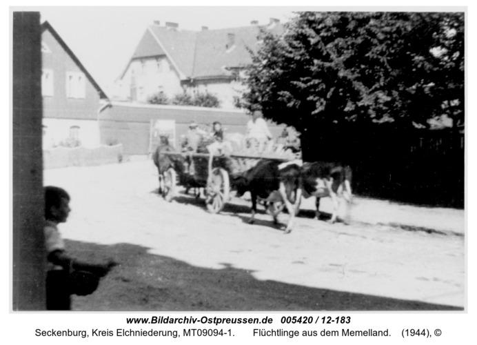 Seckenburg,  Flüchtlinge aus dem Memelland