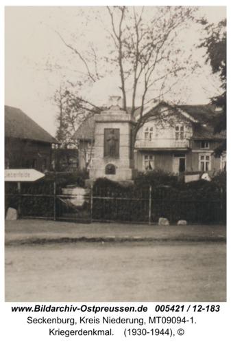 Seckenburg,  Kriegerdenkmal