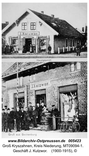 Seckenburg,  Geschäft J. Kutzwor
