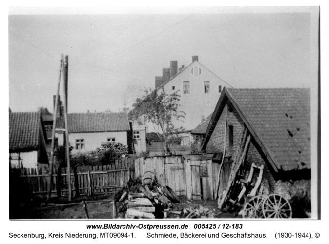 Seckenburg, Schmiede, Bäckerei und Geschäftshaus