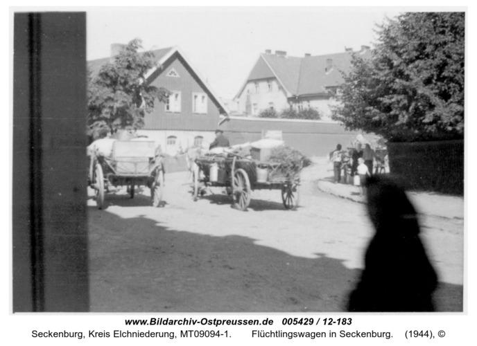 Seckenburg,  Flüchtlingswagen in Seckenburg