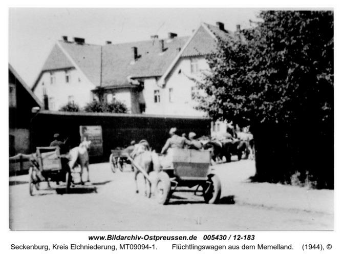Seckenburg,  Flüchtlingswagen aus dem Memelland