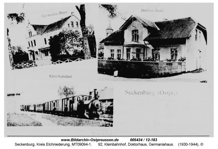 Seckenburg, 92, Kleinbahnhof, Doktorhaus, Germaniahaus