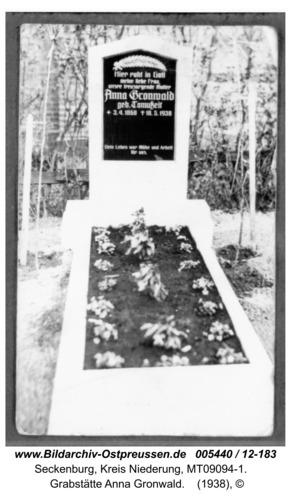 Seckenburg,  Grabstätte Anna Gronwald