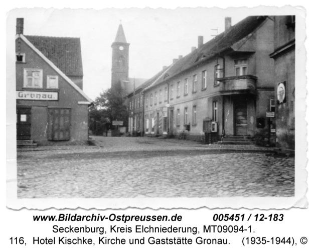 Seckenburg, 116, Hotel Kischke, Kirche und Gaststätte Gronau