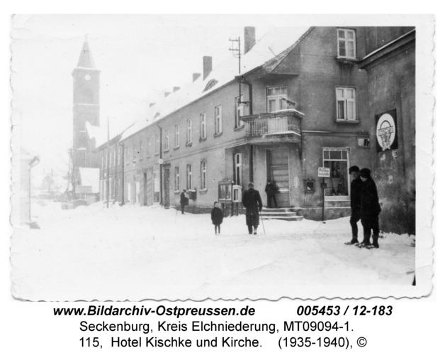 Seckenburg, 115, Hotel Kischke und Kirche
