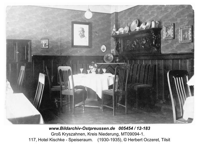 Seckenburg, 117, Hotel Kischke - Speiseraum