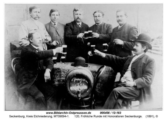 Seckenburg, 120, Fröhliche Runde mit Honoratioren Seckenburgs
