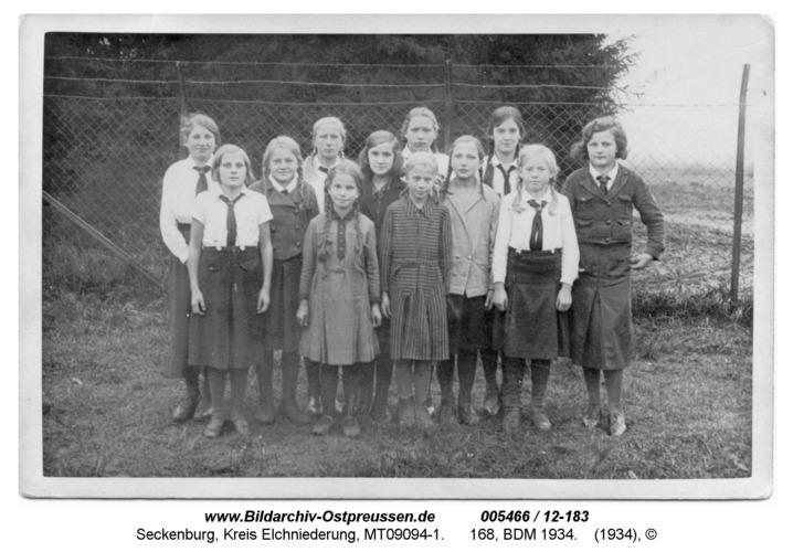 Seckenburg, 168, BDM 1934