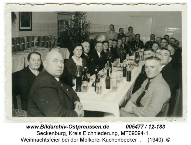 Seckenburg, Weihnachtsfeier bei der Molkerei Kuchenbecker