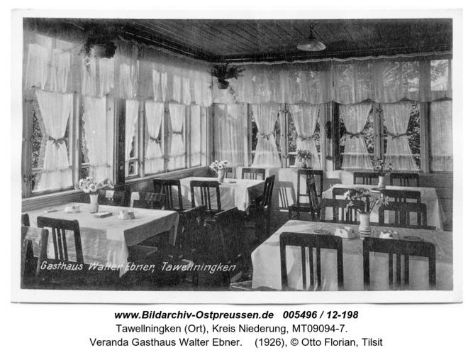 Tawellenbruch, Veranda Gasthaus Walter Ebner