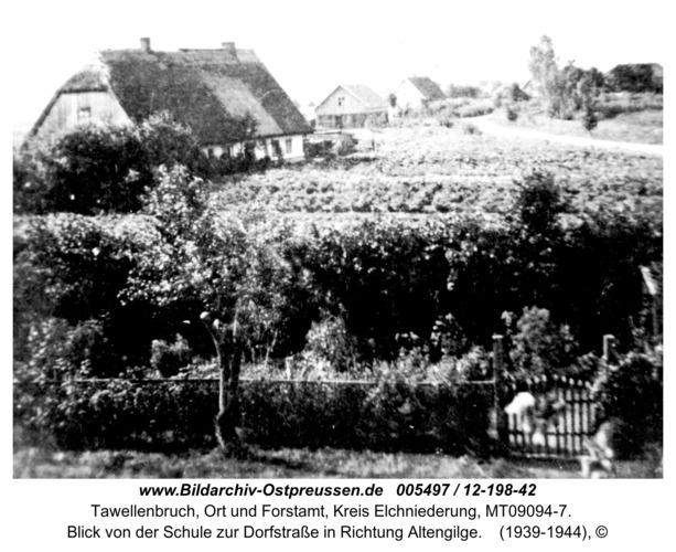 Tawellenbruch, Blick von der Schule zur Dorfstraße in Richtung Altengilge