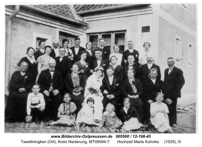 Tawellenbruch, Hochzeit Marie Kuhnke