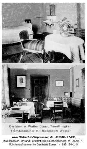 Tawellenbruch, 5, Innenaufnahmen im Gasthaus Ebner