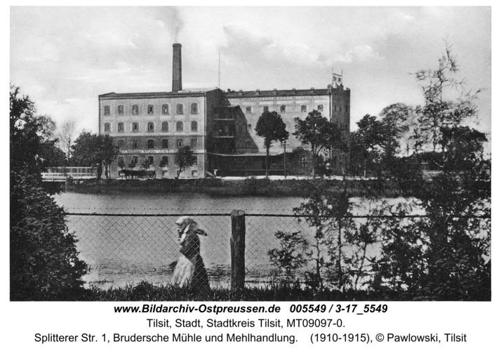 Tilsit, Splitterer Str. 1, Brudersche Mühle und Mehlhandlung