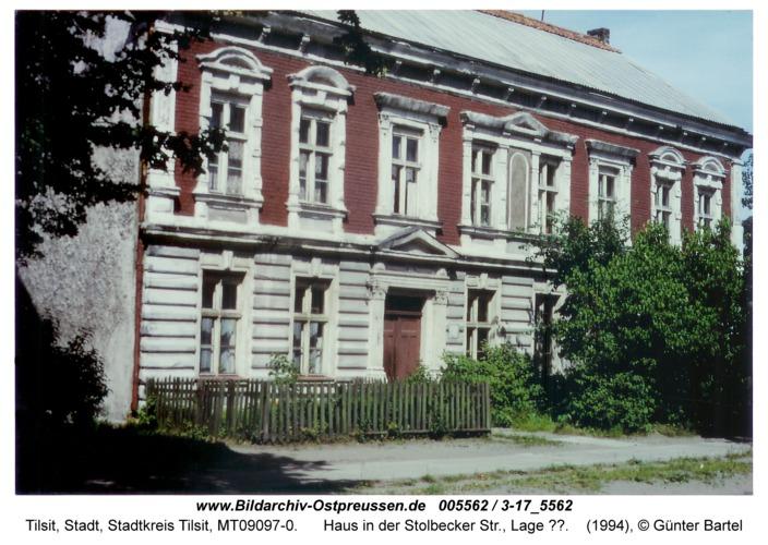 Tilsit, Haus in der Stolbecker Str., Lage ??