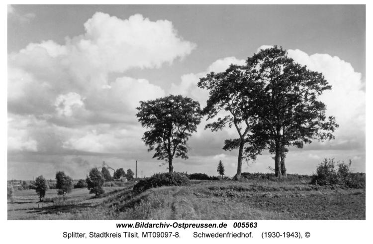 Tilsit-Splitter, Schwedenfriedhof