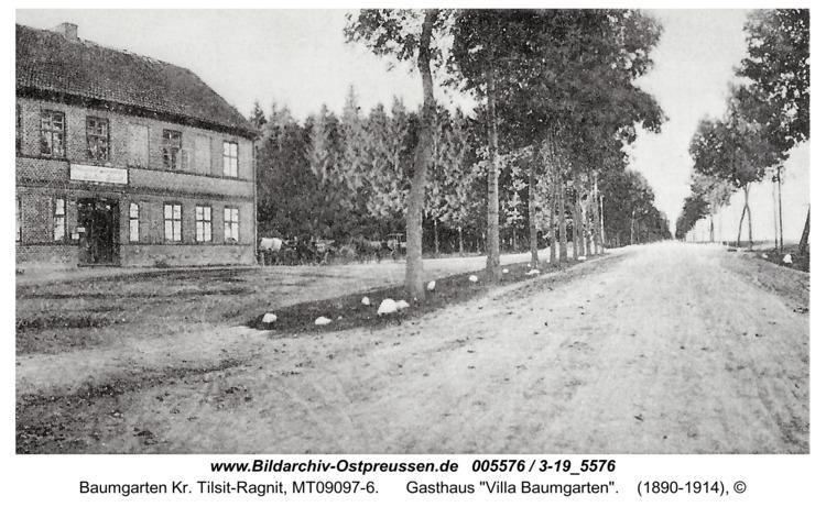 """Baumgarten Kr. Tilsit-Ragnit, Gasthaus """"Villa Baumgarten"""""""