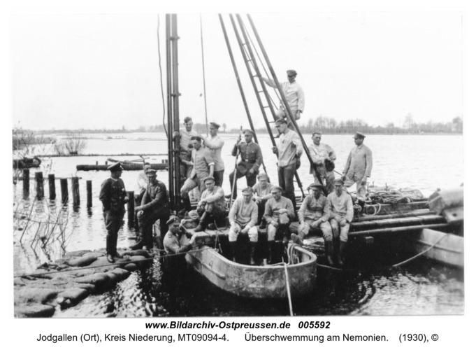 Jodgallen (Ort), Überschwemmung am Nemonien