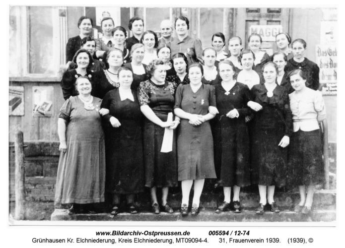 Grünhausen, 31, Frauenverein 1939