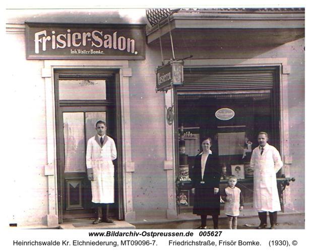Heinrichswalde, Friedrichstraße, Frisör Bomke