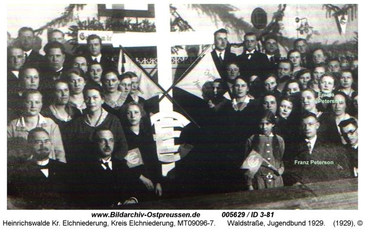 Heinrichswalde, Waldstraße, Jugendbund 1929